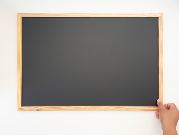 Blackboard, wooden frame, empty space for design
