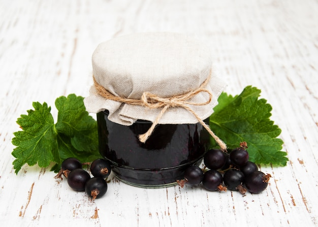 Blackcurrants jam
