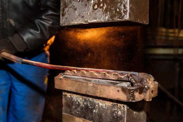 Blacksmith, metal processing, anvil.