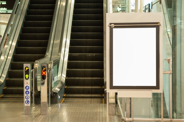 Blank advertising billboard at airport large lcd advertisement