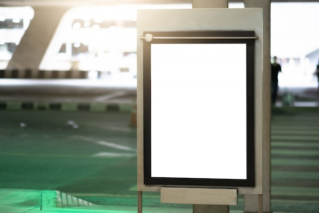 Blank advertising billboard at airport.