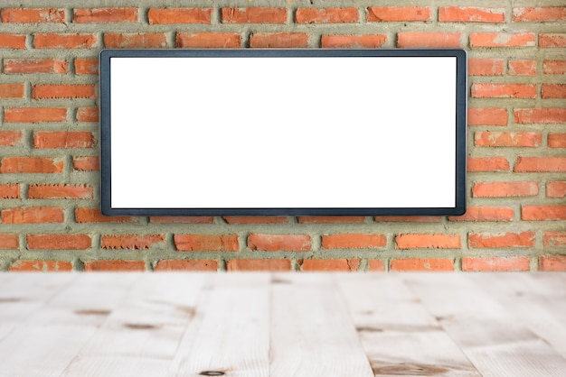 Blank advertising billboard buildings exterior brick wall background,copy space.