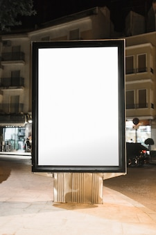 Blank advertising billboard in the city
