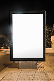 Blank advertising billboard on street