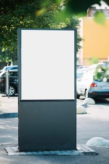Blank advertising panel