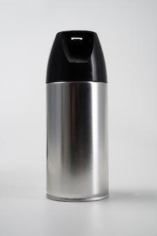 Blank aluminum spray can isolated