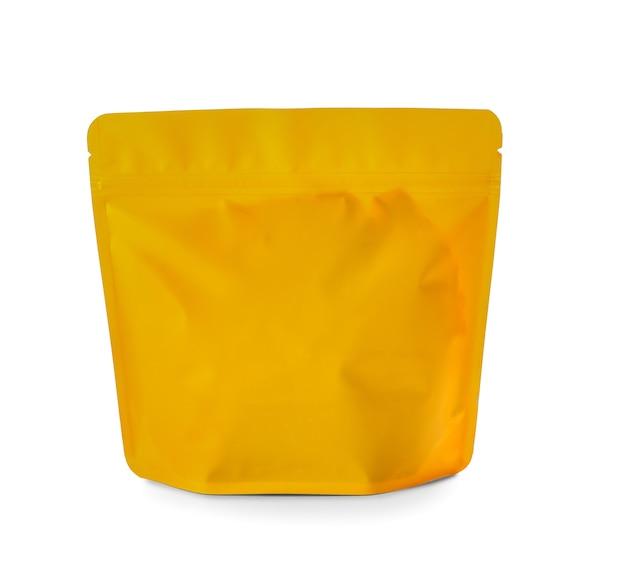 白い表面に空白のバッグ