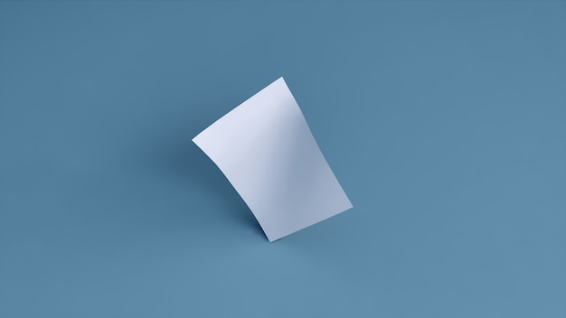 Пустой баннер белый на синем фоне