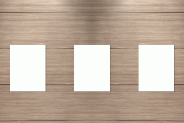 Blank banner on wood wall