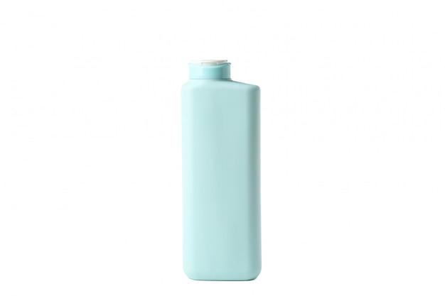 Пустая бутылка ванной, изолированные на белом фоне. ванные принадлежности