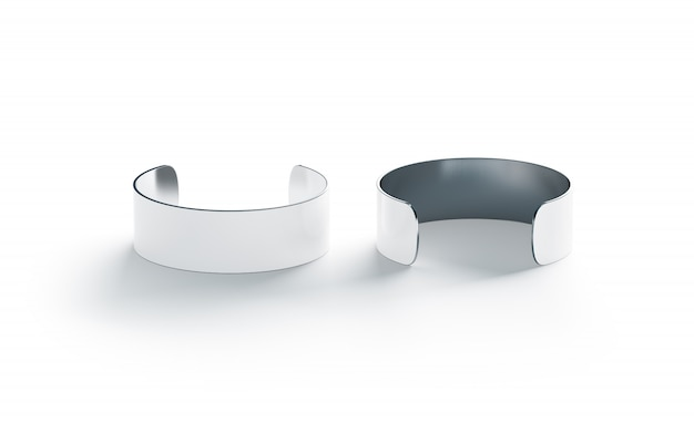 Blank big white cuff bracelet , front and back