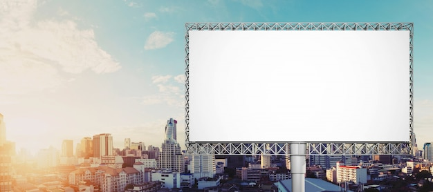 Blank billboard for advertisement at bangkok city