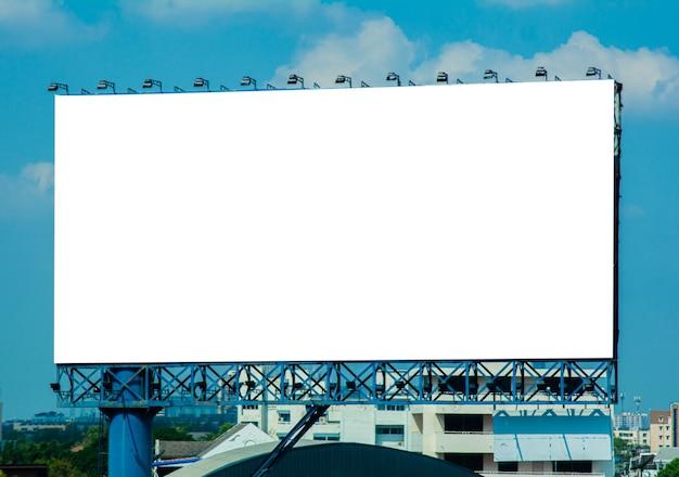 Blank billboard at the city