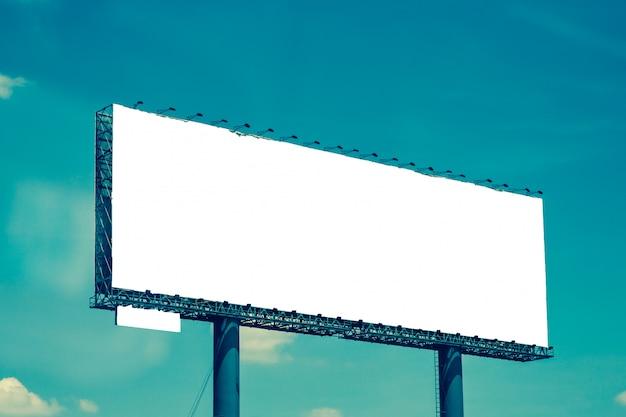 新しい広告のブランクの看板