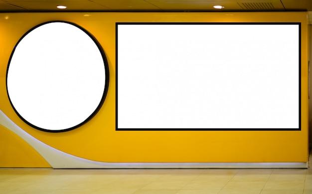Blank billboard mockup in the airport