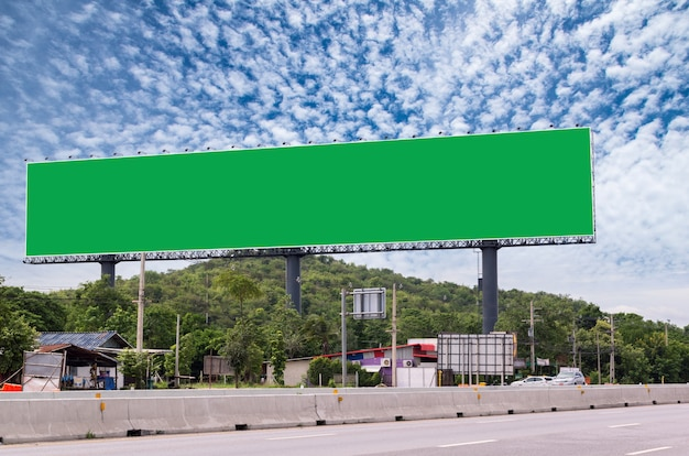 Blank billboard for new advertisement beside the road
