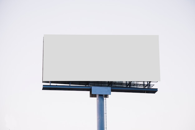Blank billboard for new advertisement isolated on white background