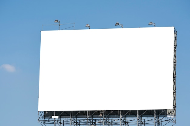 Blank billboard for new advertisement