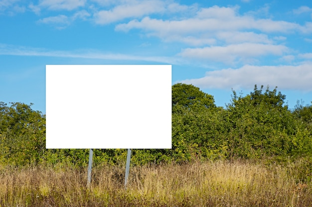 Blank billboard in order to be able to put text