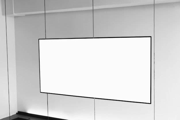 Blank billboard poster in the department store