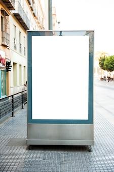 Blank billboard in street
