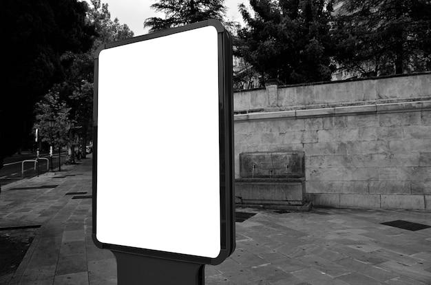 Blank billboard in the street