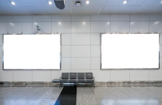 Blank billboard in underground, useful for advertisement