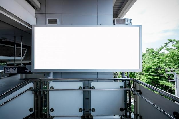 Blank billboard white led screen vertical for advertising