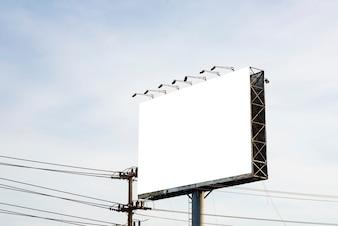 Blank billboard