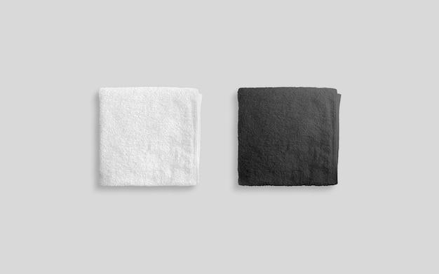 빈 흑인과 백인 접힌 부드러운 비치 타월