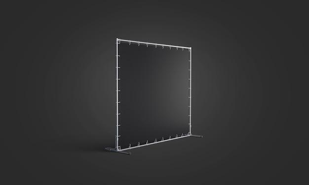 Пустой черный макет стены прессы, на темноте