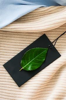 Пустой черный ценник для эко модного бренда