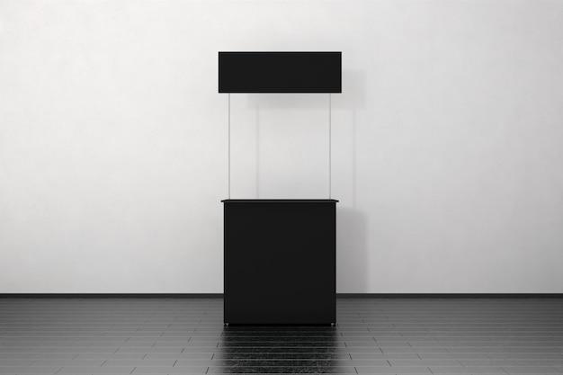 Blank black promo counter