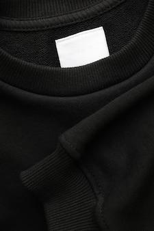 Пустой черный свитшот Premium Фотографии