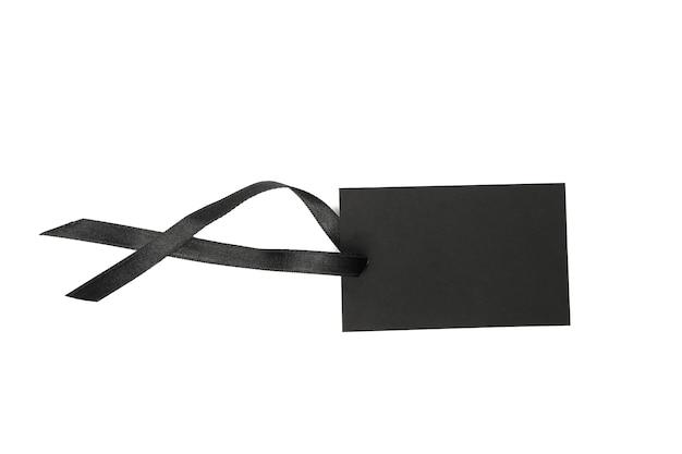 Пустой черный тег, изолированные на белом фоне
