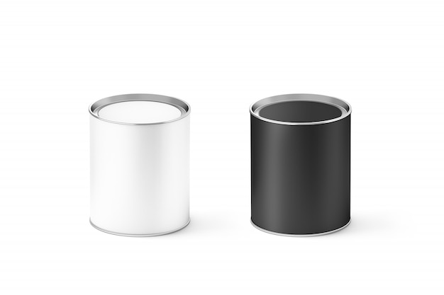 Blank black and white cylinders