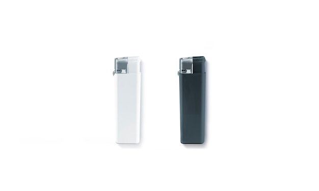 Blank black and white gas lighters