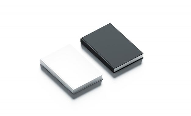 Blank black and white hardcover books set