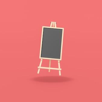 Blank blackboard on red background