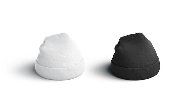 Blank blank and white beanie mockup empty fashion headwear mock up clear fan headdress template