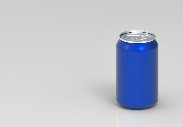 ブランクブルーのソフトドリンクコーラ缶