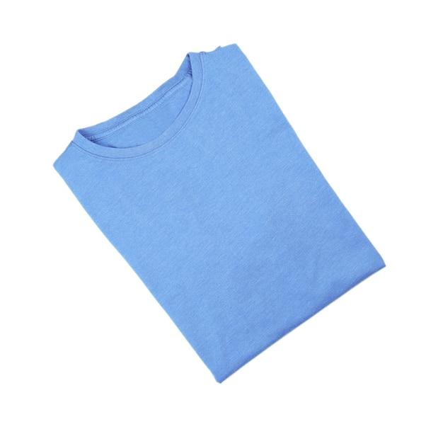빈 파란색 티셔츠 흰색 절연