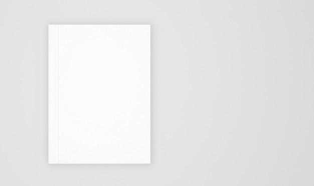 白で隔離される空白の本の表紙のテンプレート