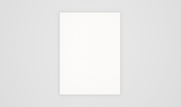 Blank book cover template isolated on white