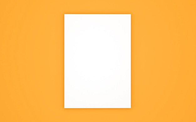 Blank book cover template isolated on yellow
