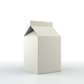 空白のボックス。小売パッケージのモックアップセット。白で隔離。 3dレンダリング