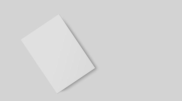 아이덴티티 디자인 프레젠테이션을 위한 템플릿으로 회색으로 격리된 빈 브랜딩 편지지 세트.