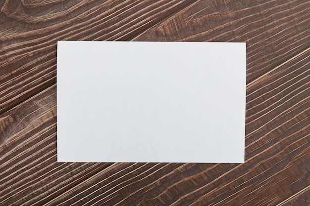 Blank brochure on table