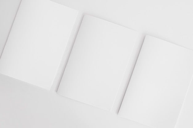 Blank brochures