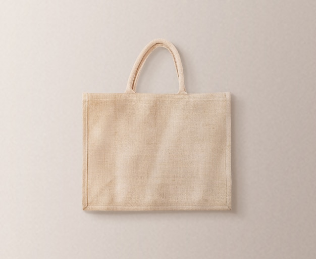Blank brown cotton eco bag design  isolated